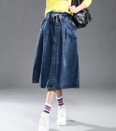 Ankle Length Denim Skirts Online | Ankle Length Denim Skirts for Sale