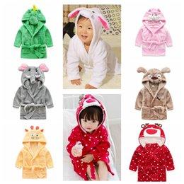 Дети anima халат с капюшоном банное полотенце Dinosaur Мышь оленей халат Дети животных милые пижамы ночь Sleepwear 8 дизайн KKA1066