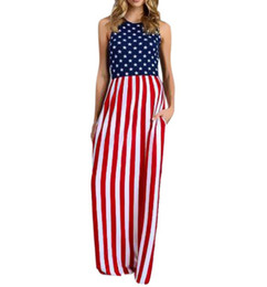 Discount Plus Size American Flag Dresses | 2017 Plus Size American ...