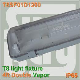 Livraison gratuite T8 4ft luminaire double rangée 4ft étanche avec G13 titulaire et plafond accessoire 1200mm montage vapeur 120cm
