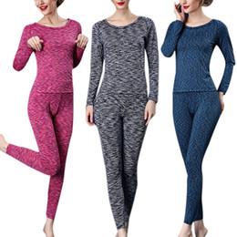 Хорошее качество Женщины термобельё Тонкий Лонг Джонс Sleepwear Set Женский Зима теплая одежда Топ Брюки M-XL JB0282
