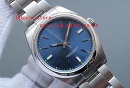 Discount factory supplier watches Factory Supplier latest versio AAA Top quality Sapphire 41mm Automatic movement blue Dial Luminous 114300 fashion Men's Watches