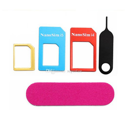 online shopping For iphone s nano adapter convert nano sim card for iphone iphone reduction card set with retail package