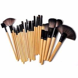 Wholesale El precio bajo La nueva marca profesional de la lana del kit de tocador del maquillaje del sistema de cepillo del maquillaje del profesional compone el caso del sistema de cepillo DHL libre