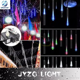 multicolor 20cm 30cm 50cm meteor shower rain tubes ac100240v led christmas lights wedding party garden xmas string light outdoor