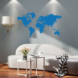 World map room wall stickers nz buy new world map room wall 2017 hot sale cool graphics black large world map vinyl wall decals art wall sticker home decor art diy gumiabroncs Images