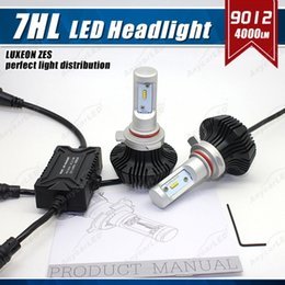 online shopping 1 Set HIR2 W LM G7 LED Headlight Slim Auto Kit PHILI LUXEON ZES LUMILED Chip th Fanless K Super White Repla HID Halogen Lamp