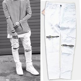 Men White Skinny Jeans - Legends Jeans