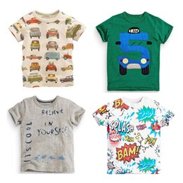 Discount wholesale shirts for summer 2016new easter t shirt paw shirt boys strips tees summer short car t shirt kids for boys 3d kids children t-shirt sale kids elsa