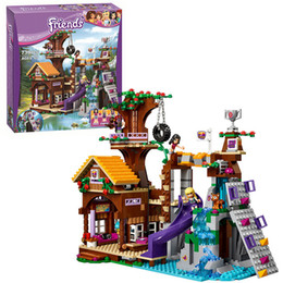 Bela 10497 Friends Adventure Camp Tree House Building Blocks Bricks Toys Girl Game Toys For Children Gift Decool Lepin 41122