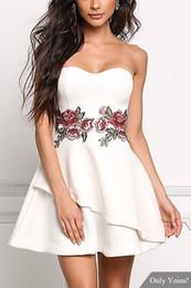Discount White Strapless Mini Dress Cotton  2017 White Strapless ...