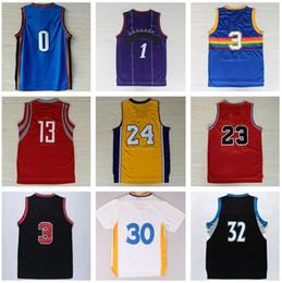 Hombre Camisas de baloncesto baratos Throwback Clásico Deportivo Deportiva Ropa Hombres Con El Equipo De Jugador Nombre Tamaño S-XXXL Camiseta de baloncesto