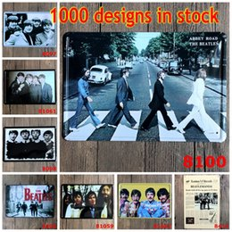 The Beatles Vintage Cartel de estaño Música de la banda de la banda Estrellas Metal Tin Signs Beatlemania Hierro Pintura 20 * 30cm Estrella Paredes Decoración 3 99rjO