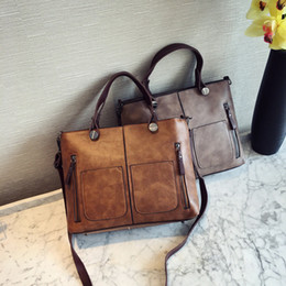 c22698f24ddb 2019 Fashion Vintage Women Shoulder Bag Female Causal Totes for Daily  Shopping All-Purpose High Quality PU Leather Messenger Dames Handbag