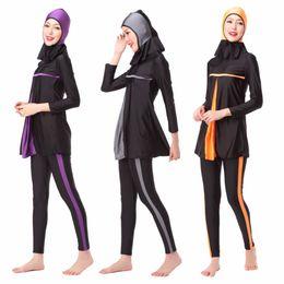 ec1213c2f36e6 Ladies Full Cover Muslim Swimwears Womens Swimsuits Arab Islam Beach Wear  Long Modest Islamic Hijab Swimming Burkinis XX-388