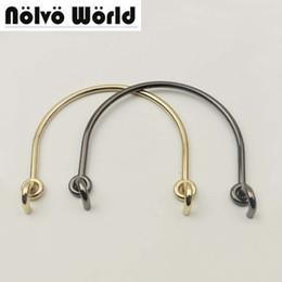 10 Pieces 120X90mm Half Ring handle double-clasp metal connector hardware  for DIY bags handbags purse handles accessories parts 40b38efdb0e14