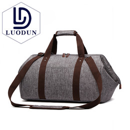 LUODUN 2018 Waterproof Travel Bag Large Capacity Carry On Luggage Bag Business Hand Big Opening Design Duffle Bags