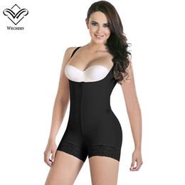 a58a6bb9d Wechery Women Body Shaper Stretchy Bodysuits Sexy Plunge U Lace Slimming  Underwear Corsets Butt Lifter Bodysuit Plus Size S-6XL