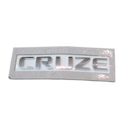 auto accessories rear sticker rear trunk letter emblem logo sticker for chevrolet cruze chrome 1pc car styling free shipping