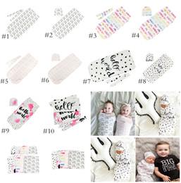956df81337 Infant Cotton Cocoon Swaddle Blanket 2 Piece Set Sleeping Bags +Cap(  headband ) Newborn Baby Sleep Sack