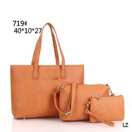 3PCS SET NEWSET STYLE DESIGNER BAGS PU LEATHER TOTES FASHION BAG famous  brand SHOULDER BAG PURSE WALLET 34816 Luggages 2cef3cb4ced0f