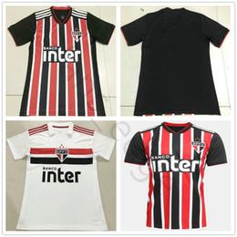 2018 2019 Brazil Club Sao Paulo Soccer Jersey Junior Cueva ARBOLEDA  REINALDO EVERTON SOUZA Custom Home Away Black White 18 19 Football Shirt 7b91cd45e