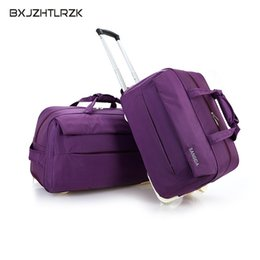 e840fe5e3424 8 Photos Travel Wheel Bags NZ - BXJZHTLRZK fashion luggage waterproof thick Rolling  suitcase style Trolley women and