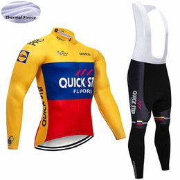New FDJ QUICK STEP tour de france men thermal fleece Cycling Clothing  winter long sleeve Cycling Jersey set Mtb Bike Maillot ropa Ciclismo 6750e1fb1