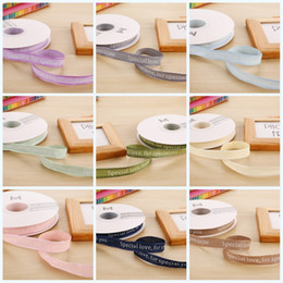 diy print english cotton silk ribbon florist gift flower packaging personalised ribbons for party decor christmas birthday 15xy jj