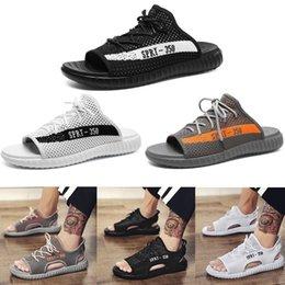 sale Cheapest 2018 new arrival 350 v2 men Sandals black white Anti-slipping Quick-drying Outdoor slippers Soft bottom Shoes sport Sandals 40-44 comfortable sale online original for sale 7u6abjnK1J