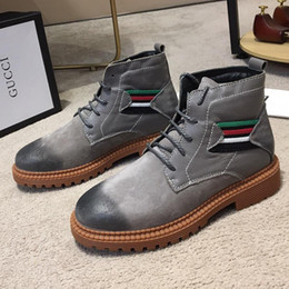 87eb3c9f6 Boots Men Canada - High Top Martin Boots with Origin Box Mens Shoes Luxury  Stivali da