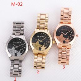 6cef698e423 Fashion design Brand women s Girl Pentagram star crystal style Metal steel  band Quartz Watch M54