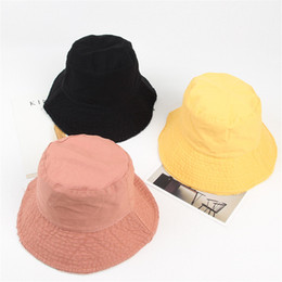 Yellow Golf Hat Canada - LDSLYJR 2018 Autumn And Winter cotton solid Bucket  Hat Fisherman Hat 990d59dd6e20