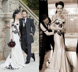 Black White Gothic Wedding Dresses Canada Best Selling Black White