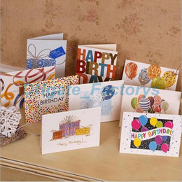 Sweet Wish Lovely For You Happy Birthday Thank Favor Gift Card Greeting Christmas Printed Kid Free Shipping JF 942