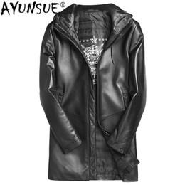 5bad7e5f227 AYUNSUE Genuine Leather Jacket Men Clothes 2018 Real Mens Sheepskin Coat  Winter Duck Down Jacket Chaqueta Cuero Hombre ZL893