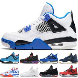 9945ed092aea 4 4s Travis Scotts Cactus Jack Mens Basketball Shoes Raptors Kaws Denim  Eminem Pure Money Oreo Royalty men sports sneakers designer trainers