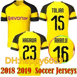 8c4a9fd5df3 Thai quality 2018 2019 Dortmundes soccer jersey 18 19 AUBAMEYANG GOTZE  KAGAWA DEMBELE PULISIC REUS Borussia Dort HOME football shirts
