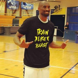 3ecd47e2b2 Train like beast t shirt Kobe Bryant star short sleeve gown Basketball tees  Unisex clothing White black yellow blue Tshirt