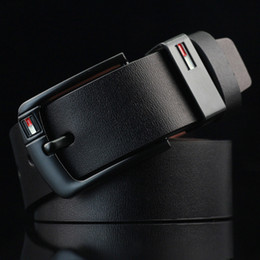 Discount buckle New Arrival designer Pin Buckle PU leather belts for men Luxury Brand pu leather Mens Belt male ceinture LH-P76