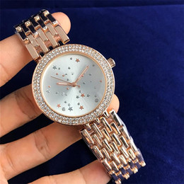 9006fd34f62 2018 New style Small Stars design pattern Clock dial Elegant High Quality  Luxury Watches Woman Quartz Watches Wholesale Free Shipping