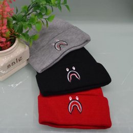 13de30aed0a 2018 shark embroidered Beanies men women unisex Beanies casual knitted  skateboard skull caps outdoor couple tide hats