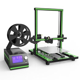 Discount 3d printer New Anet E10 Aluminum Frame Desktop 3d printer High precision Reprap I3 3D Printer DIY Kit Off-line Printing Free 10m Filament