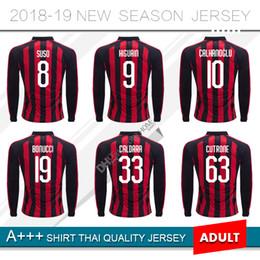 9 HIGUAIN 2019 Milan Long sleeve Home Soccer Jersey 18 19  10 CALHANOGLU Soccer  Shirt  8 SUSO  5 BONAVENTURA  63 CUTRONE Football Uniform eb3278d13