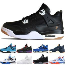 b0db2ade0a90 4 4s Travis Scotts Cactus Jack Mens Basketball Shoes Raptors Kaws Denim  Eminem Pure Money Black Cat men sports sneakers designer trainers