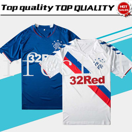 bd2bee00432 2019 Rangers FC Home Blue Soccer Jerseys 18 19 Glasgow Rangers Away White Football  Shirt Uniform Free Shipping