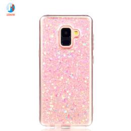 Fashion Flash slice Cover For Coque Samsung Galaxy A8 2018 Case Acrylic  Soft TPU silicon Mobile Phone Case For Galaxy A5 2018 58612fad08cb