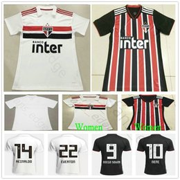 18 19 Brazil Club Sao Paulo Soccer Jerseys JUCILEI NENE CUEVAS EVERTON  DIEGO SOUZA ALVES Custom Home Away White 2019 Football Shirts 85f19a874