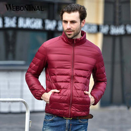e17b362aaa2 top Autumn Winter Thin 90% White Duck Jacket Men Casual Ultralight Male  Feather Jackets Coat Ultra Light Lightweight
