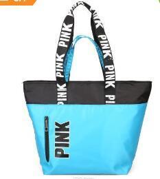 48e2165890f 4 Colors Pink Handbags Shoulder Bags Women Love Handbags Large Capacity  Travel Duffle Striped Waterproof Beach Shoulder Bag CCA7602 10pcs
